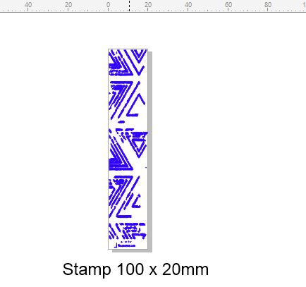 Edge Stamp 100 x 20 mm ,Stamp Rubber only, Acrylic blocks are av